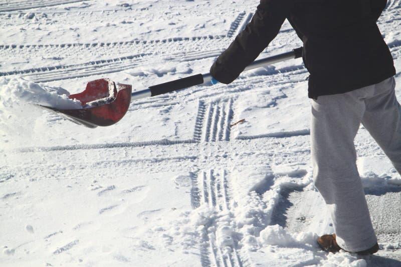 Snöskyffel arkivfoto