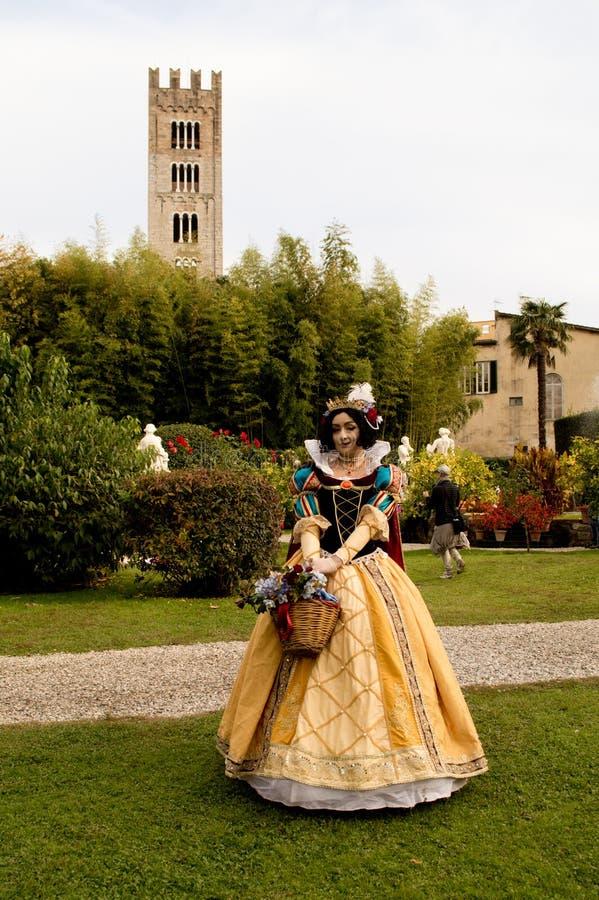 Snövit på Lucca komiker och lekar 2017 royaltyfria foton
