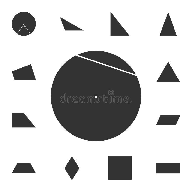 Snaar van een cirkelpictogram Gedetailleerde reeks van geometrisch cijfer Premie grafisch ontwerp Één van de inzamelingspictogram stock illustratie