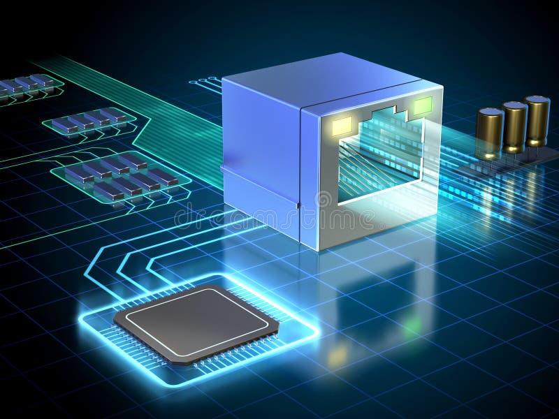 Snabb Ethernet-anslutning royaltyfri illustrationer