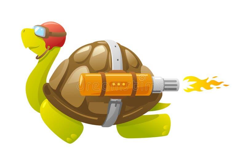 Snabb flygsköldpadda royaltyfri illustrationer