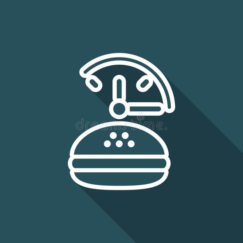 Snabb-foood stadig service - plan symbol för vektor stock illustrationer
