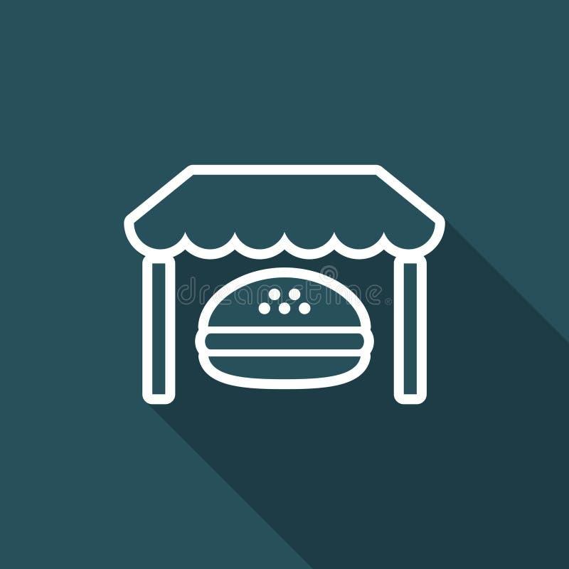 Snabb-foood stadig service - plan symbol för vektor royaltyfri illustrationer