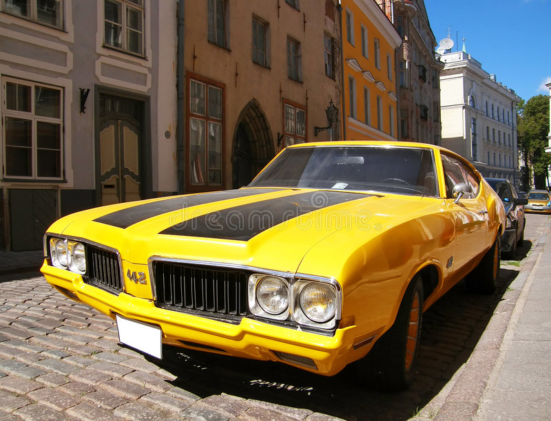 snabb gammal sport för bil arkivfoto
