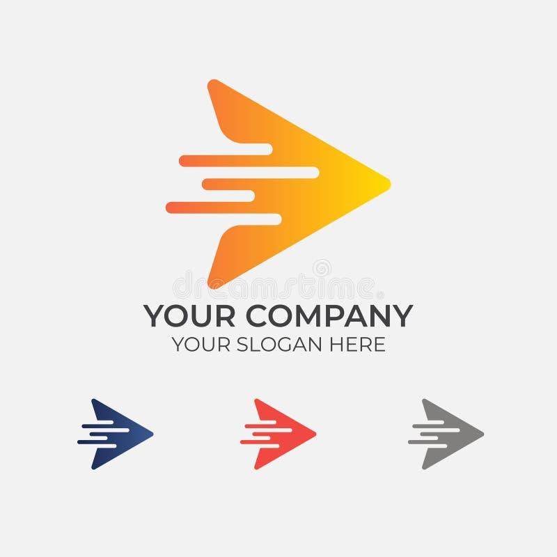 Snabb logodesign för pil royaltyfri illustrationer