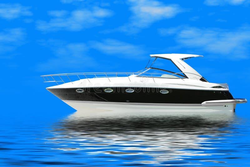 snabb lyxig yacht royaltyfri foto