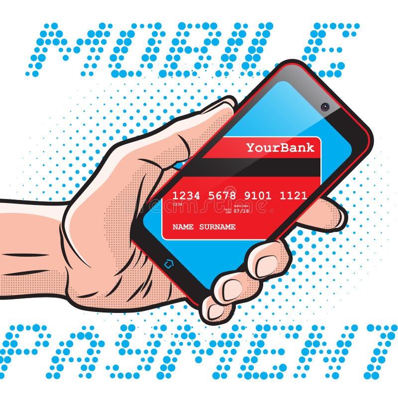 Snabb mobil betalning royaltyfri illustrationer