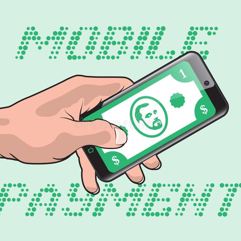 Snabb mobil betalning vektor illustrationer