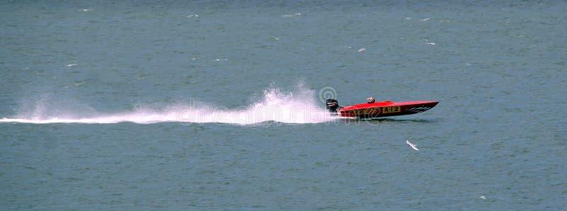 Snabb motorbåtlopp fotografering för bildbyråer