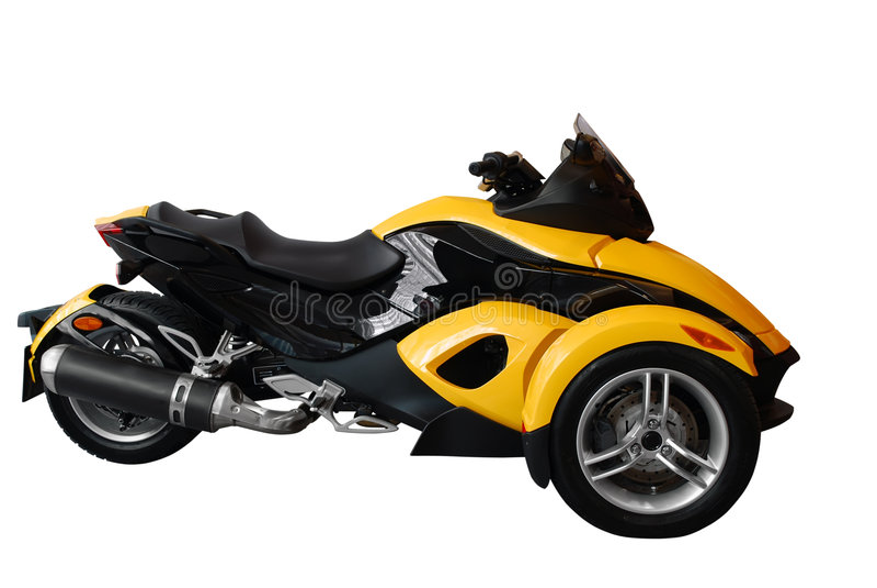 snabb motorbiketrehjuling royaltyfria foton