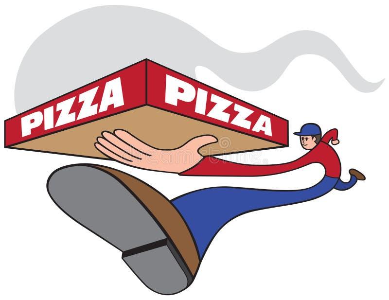 Snabb pizza stock illustrationer