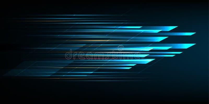 Snabb rörelsedesign High tech abstrakt bakgrundsteknologi också vektor för coreldrawillustration stock illustrationer