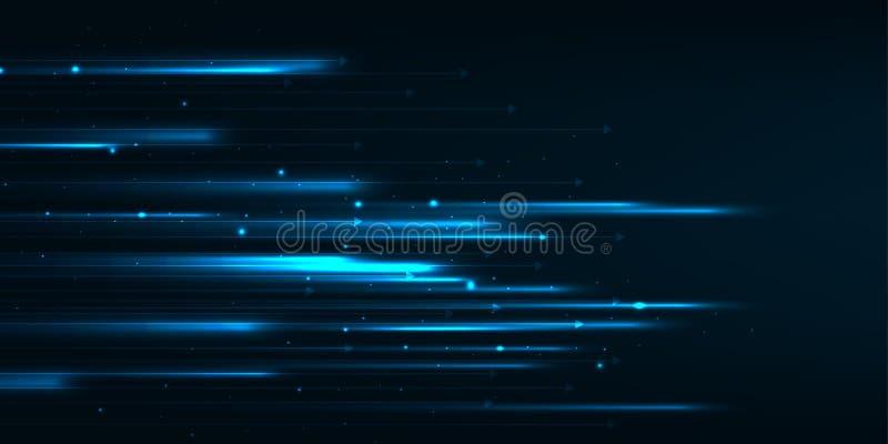 Snabb rörelsedesign High tech abstrakt bakgrundsteknologi också vektor för coreldrawillustration vektor illustrationer