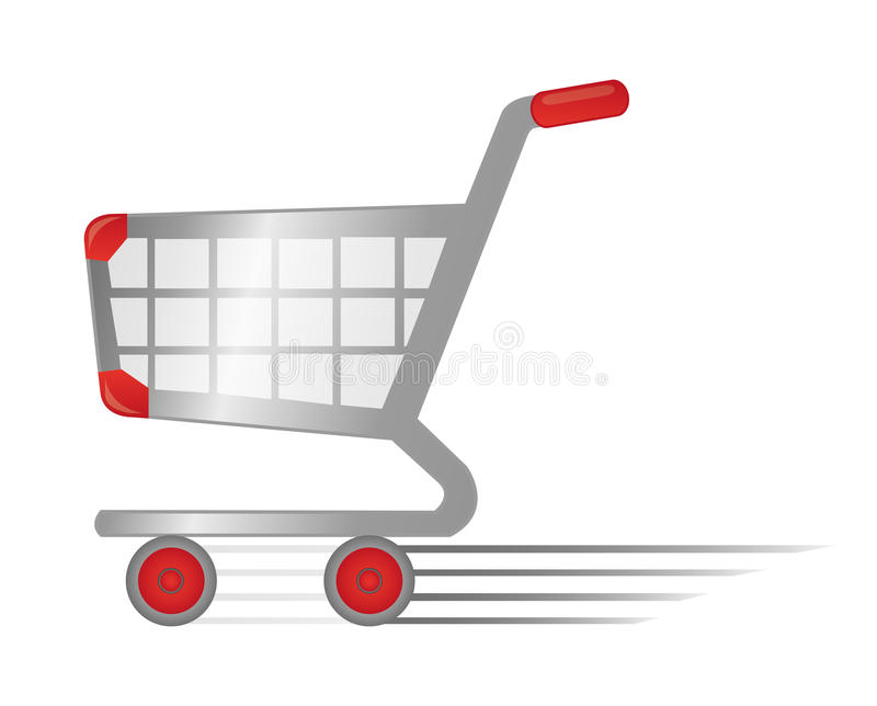 Snabb shoppingvagn stock illustrationer