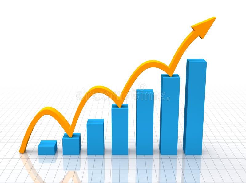 Snabb tillväxt stock illustrationer