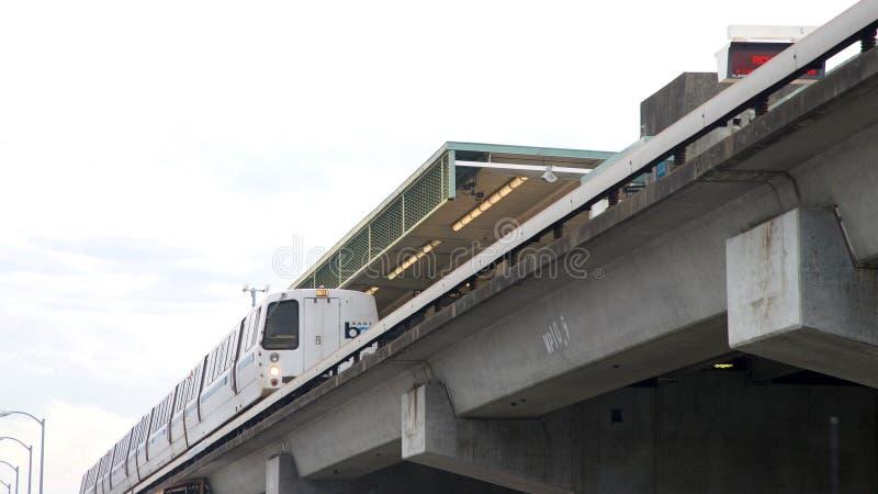 Snabb transport för fjärdområde, BART, ganska station för fjärd royaltyfri foto