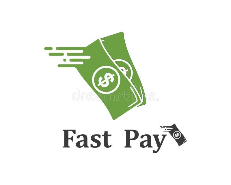 snabb vektor för lönlogosymbol stock illustrationer