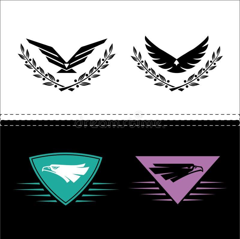 Snabba Eagle vektor illustrationer
