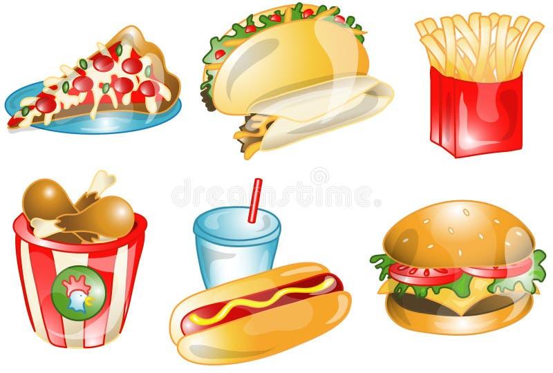 snabbmatsymboler stock illustrationer