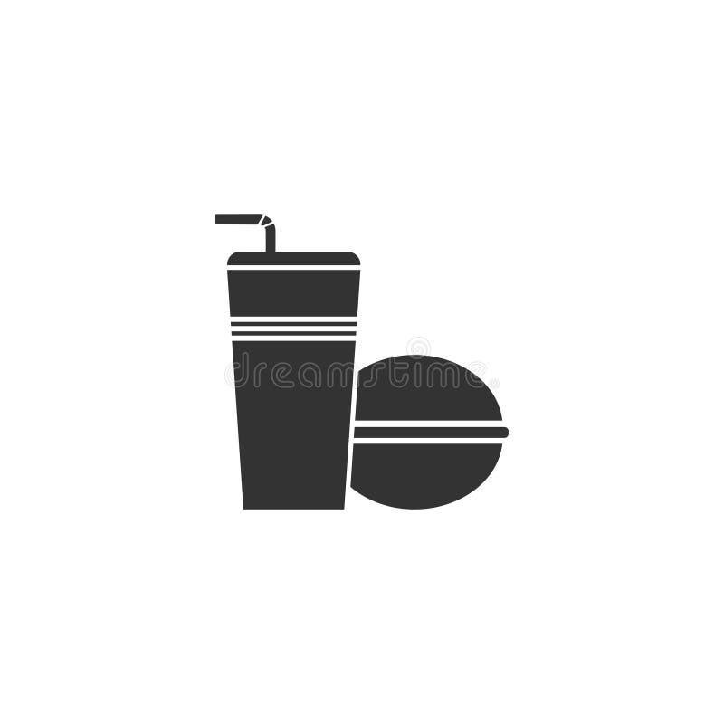 Snabbmatsymbolslägenhet royaltyfri illustrationer