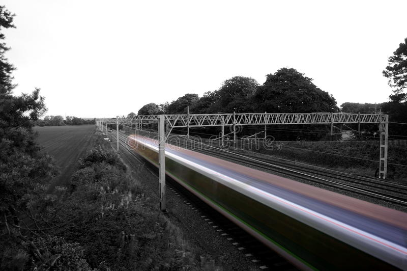Snabbt abstrakt begrepp för passageraredrev arkivfoto