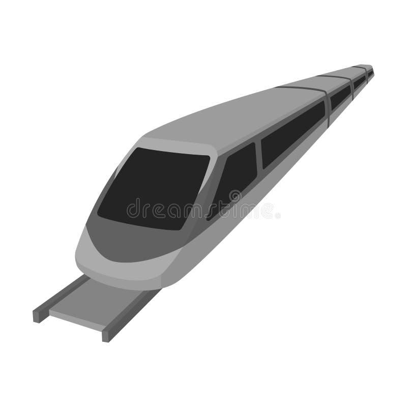 Snabbt drev för transportering av folk över långa avstånd transport för drev för hastighet för bakgrundsjordklot hög järnväg Enke stock illustrationer