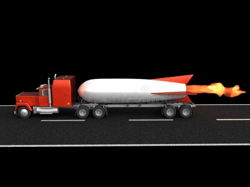 snabbt logistikraket stock illustrationer