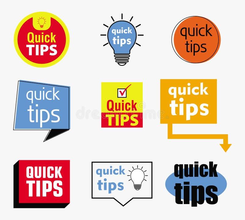 Snabbt spetsbaner eller fullt baner för hjälp för böcker, tidskrift, website och annan materiell printing vektor illustrationer