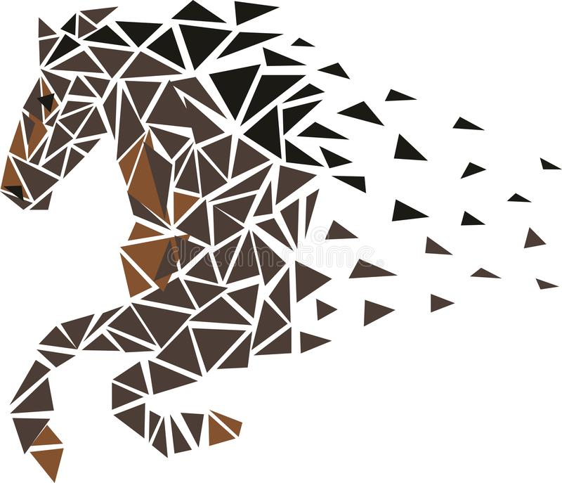 snabbt växande häst royaltyfri illustrationer