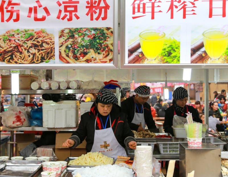 Snack bars in lantern show,chengdu,china stock photos