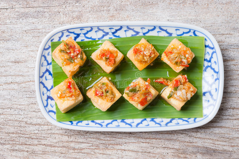 Snack and Dessert, Chinese Traditional Deep Fried Tofu or Fried royalty free stock photography