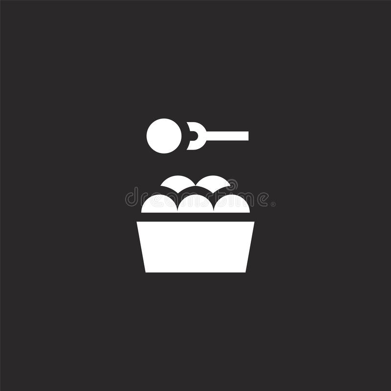 snack icon. Filled snack icon for website design and mobile, app development. snack icon from filled fair collection isolated on royalty free illustration