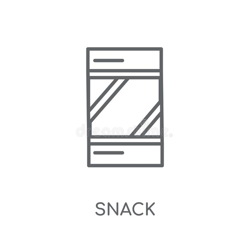 Snack lineair pictogram Modern het embleemconcept van de overzichtssnack op witte bedelaars vector illustratie