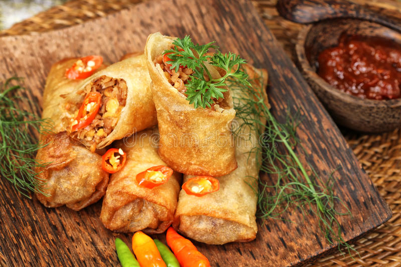 Download Snack stock photo. Image of eggroll, cuisine, dish, fried - 37927876