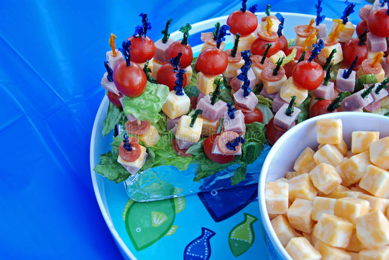 meat and cheese party platter stock photography