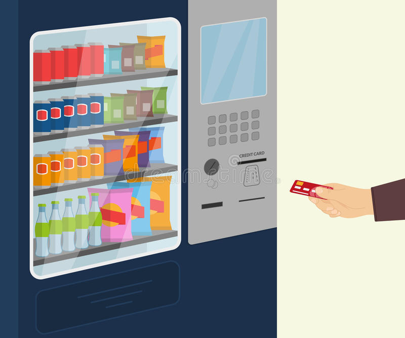 Snack vending machine royalty free illustration