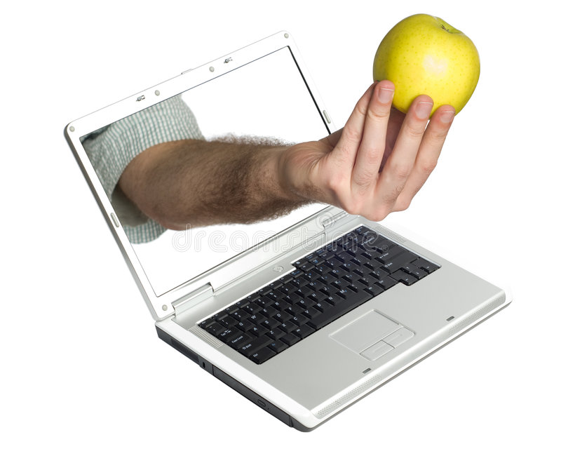 Download Snack At Work stock image. Image of apple, juicy, concept - 8592509