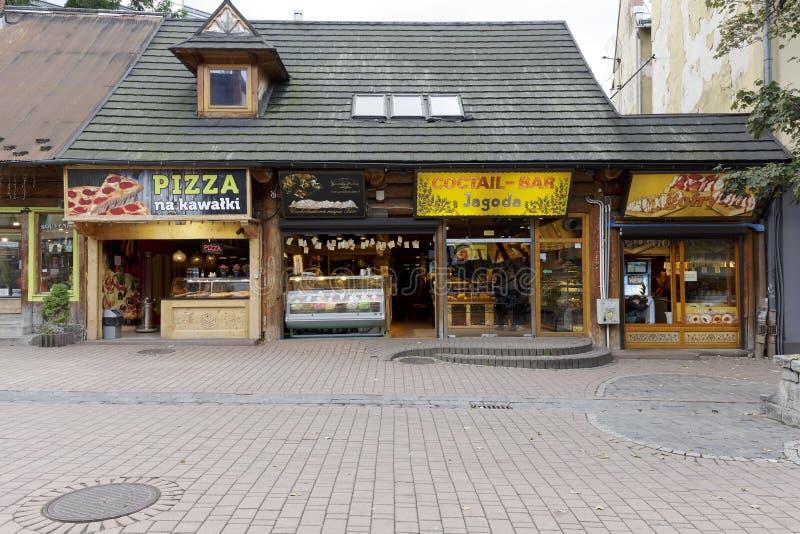Snackbars in Zakopane stock foto's