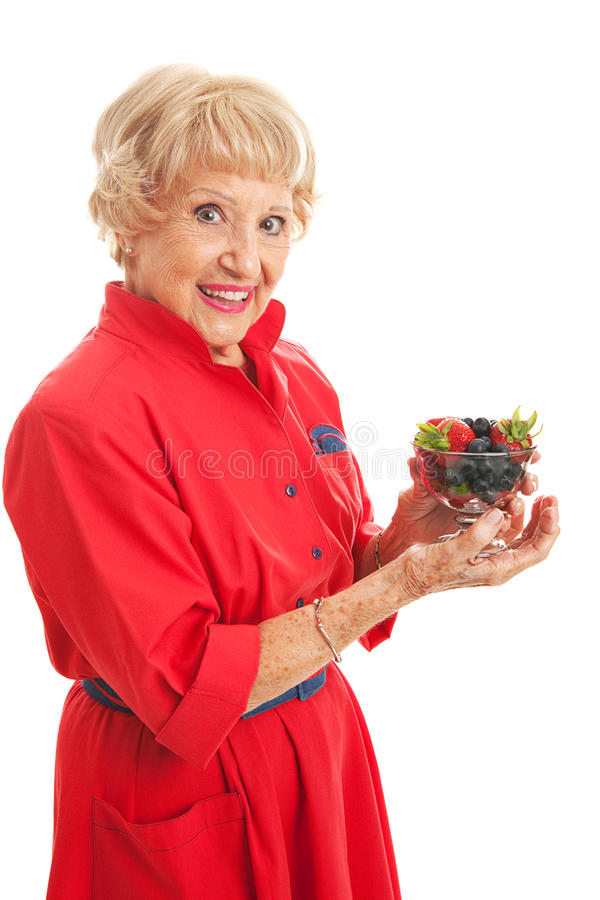 Snacking on Healthy Berries stock photos
