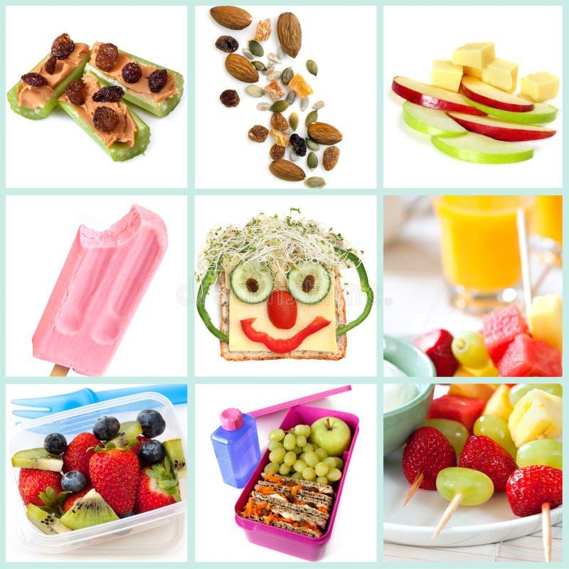 Snacking saudável para a coleção das crianças imagens de stock royalty free