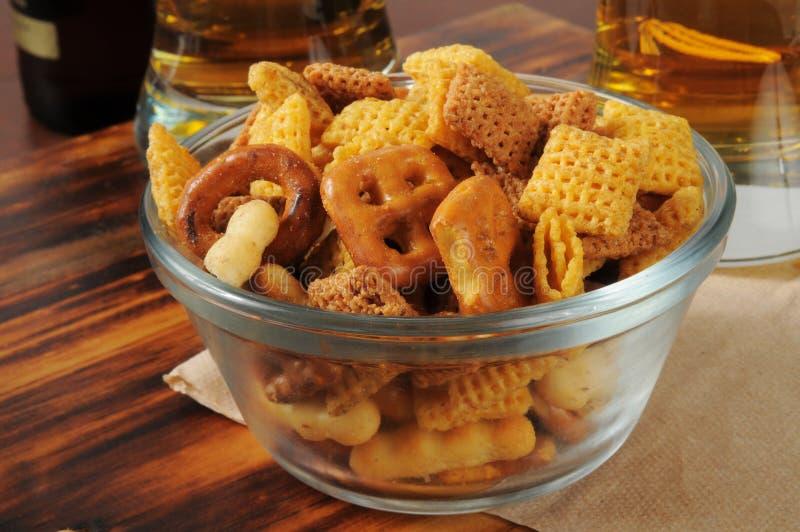 Snackmischung auf einer Bar lizenzfreies stockfoto