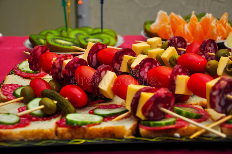 Snacks for healthy eating royalty free stock photography