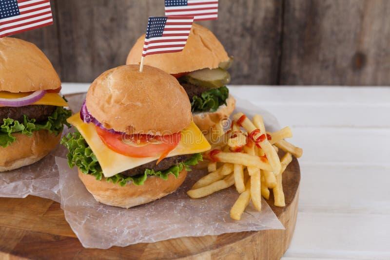 Snacks met 4 juli-thema stock foto's