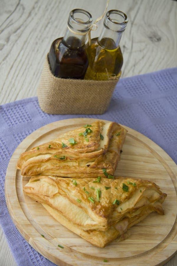 Snacks met peterselie stock foto
