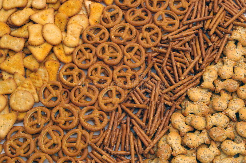 Snacks mix. A few different types royalty free stock photography
