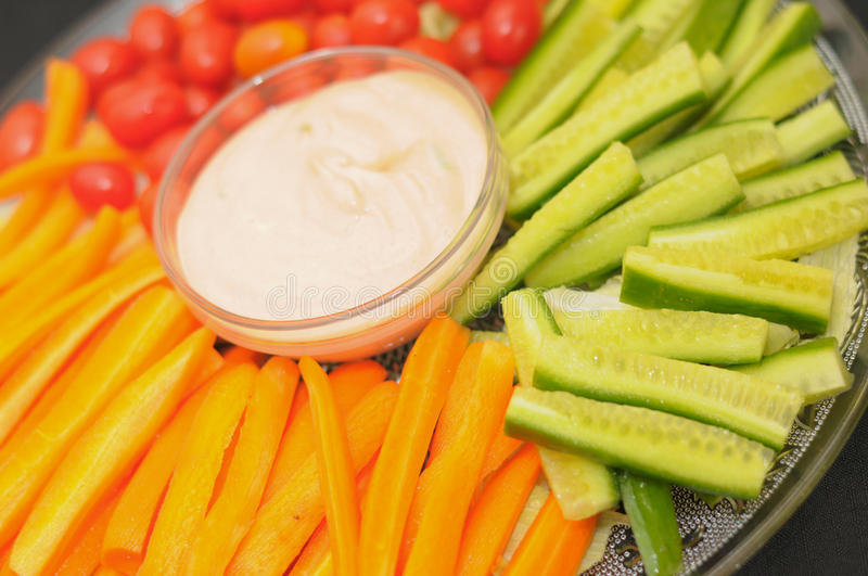 Snacks. Plate of vegetable and healthy snacks stock photography