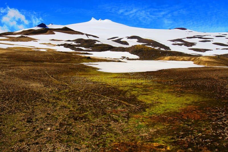 Snaefellsjokull mountain, Iceland stock photo