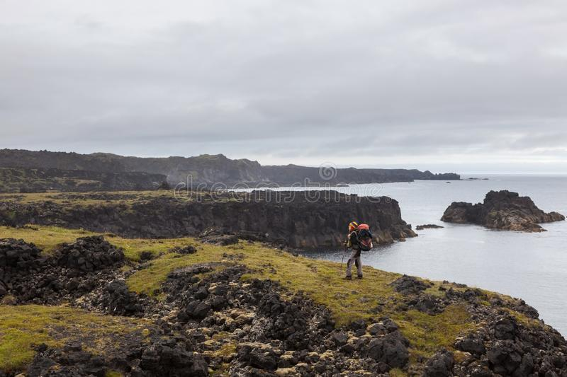 Snaefellsness, Iceland - Jul 23, 2016: Young. stock images