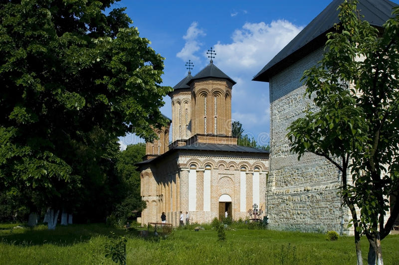 Snagov Monastery. Is an important historical and artistic Romanian feudal country, which is on the island situated to the north of Lake Snagov, near the town of stock image