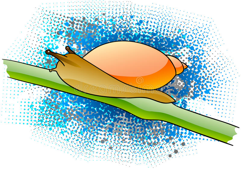 Download Snail stock vector. Image of nature, decoration, animal - 15404406